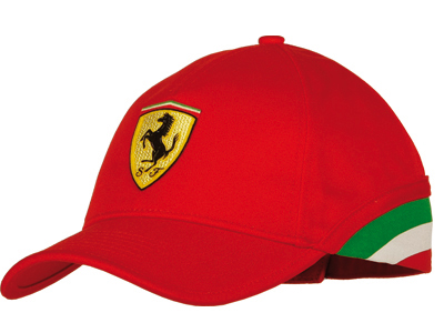 FERRARI ITALY FLAG CAP - RED