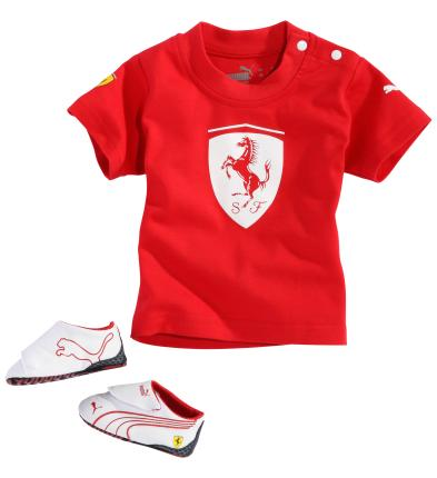 PUMA FERRARI CRIB / T-SHIRT PACK - WHITE / RED