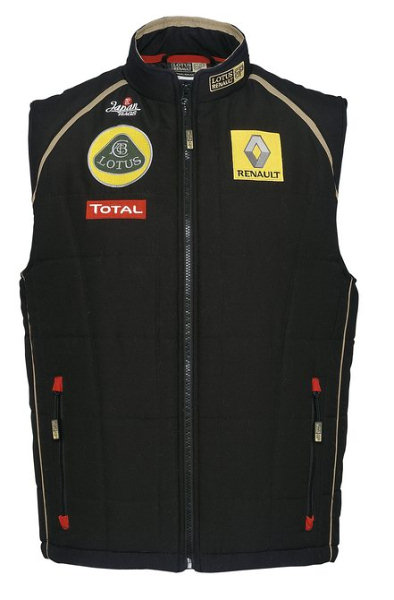 2011 LOTUS RENAULT F1 TEAM SLEEVELESS BODY WARMER JACKET