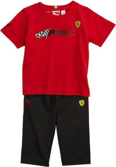 PUMA SCUDERIA FERRARI INFANT TEE AND PANTS SET