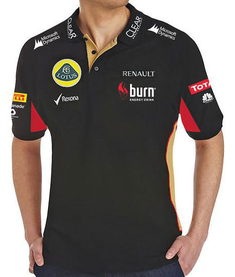 2013 LOTUS F1 TEAM MEN'S POLO