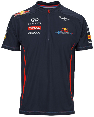 2012 RED BULL RACING TEAM FUNCTIONAL 1/4 ZIP T-SHIRT
