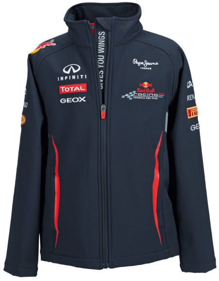 2012 RED BULL RACING F1 TEAM KIDS SOFTSHELL JACKET - NAVY