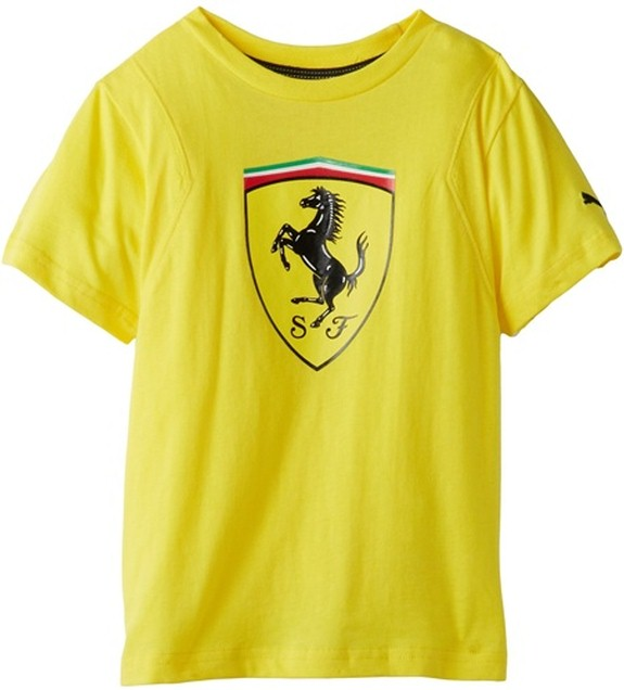 2013 PUMA FERRARI TODDLER SCUDETTO TEE - YELLOW