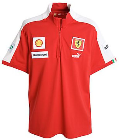 2009 FERRARI ZIP TEAM T-SHIRT - RED