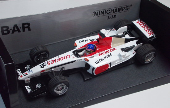 MINICHAMPS 1/18 2003 BAR HONDA 005 � JACQUES VILLENEUVE