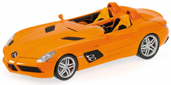 MINICHAMPS 1/18 2009 MERCEDES-BENZ SLR STIRLING MOSS - ORANGE