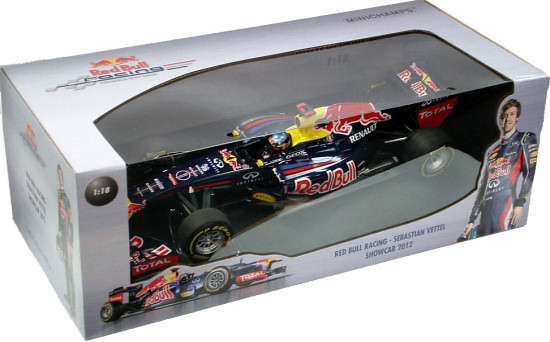 MINICHAMPS 1/18 2012 RED BULL RACING SHOWCAR - SEBASTIEN VETTEL