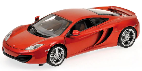 MINICHAMPS 1/18 2011 MCLAREN MP4-12C - ORANGE METALIC