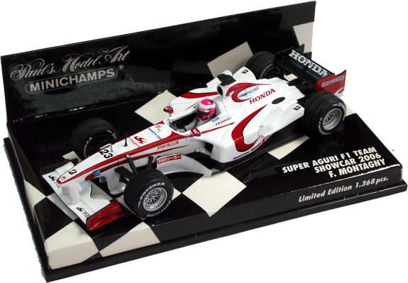 MINICHAMPS 1/43 2006 SUPER AGURI F1 TEAM SHOWCAR � F. MONTAGNY