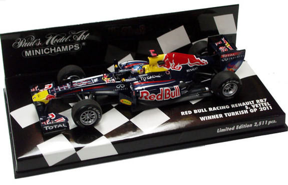2011 1/43 RED BULL RACING RB7 WINNER TURKISH GP-SEBASTIEN VETTEL