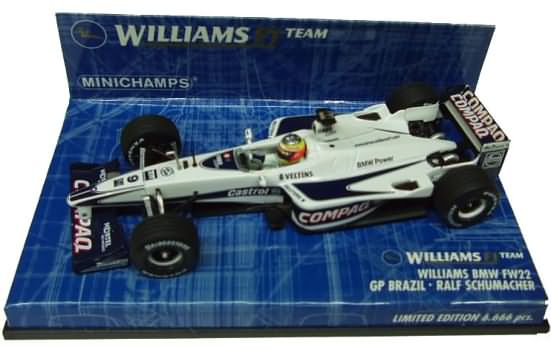 2000 WILLIAMS BMW FW22 GP BRAZIL � R. SCHUMACHER