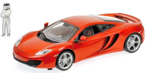 MINICHAMPS 1/18 2011 MCLAREN MP4-12C TOP GEAR - ORANGE METALIC