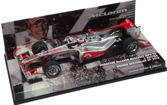 2010 VODAFONE MCLAREN MP4-25 WINNER AUSTRALIA GP - JENSON BUTTON