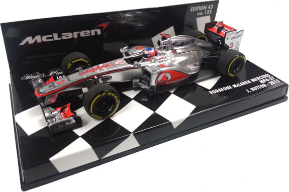 MINICHAMPS 1/43 2012 MCLAREN MERCEDES MP4-27 - JENSON BUTTON