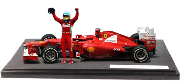 HOT WHEELS 1/18 FERRARI F2012 GP MALAYSIA WIN � FERNANDO ALONSO