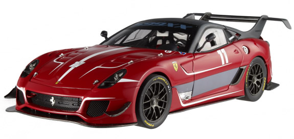 1/18 HOT WHEELS ELITE FERRARI 599XX EVO #11 - ROSSO CORSA /GRIS