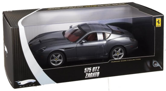 HOT WHEELS ELITE FERRARI 575 GTZ ZAGATO - SILVER