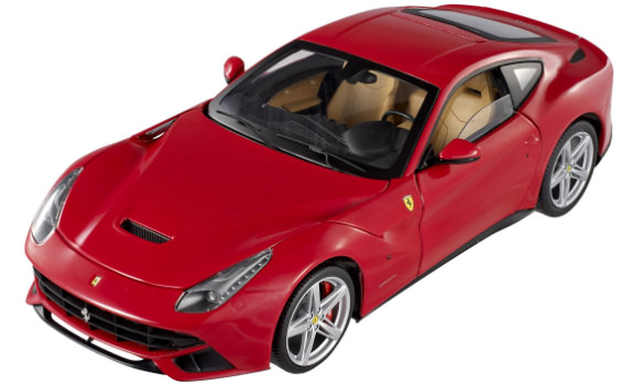1/18 HOT WHEELS ELITE FERRARI F12 BERLINETTA - RED