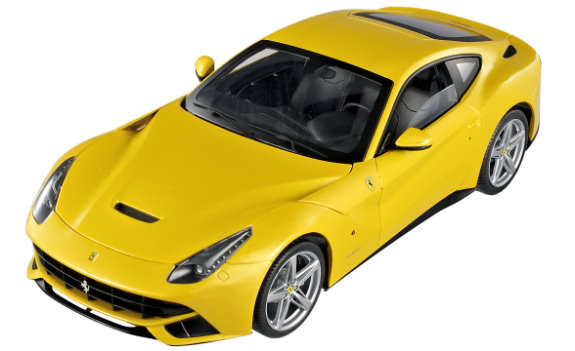 1/18 HOT WHEELS ELITE FERRARI F12 BERLINETTA - JAUNE