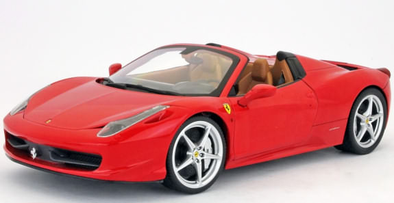 1/18 HOT WHEELS FOUNDATION FERRARI 458 ITALIA SPIDER - ROUGE