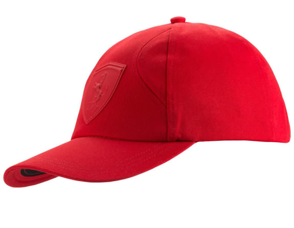 7ea8f1c7b6 TONE ON TONE CAP WITH RUBBERIZED FERRARI SHEILD LOGO RED ON REDWITH  ADJUSTABLE STRAP New with tags Puma Item #: 565450 02. COTON AND POLYESTER  LIGHTWEIGHT ...
