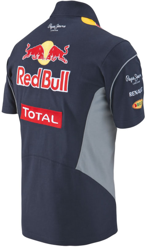 authentic infiniti red bull racing f1 team 2013 men 3 button polo shirt vettel. Black Bedroom Furniture Sets. Home Design Ideas