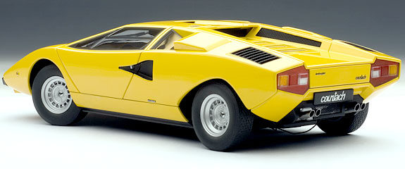 1 18 lamborghini countach lp400 1970 yellow 74646. Black Bedroom Furniture Sets. Home Design Ideas