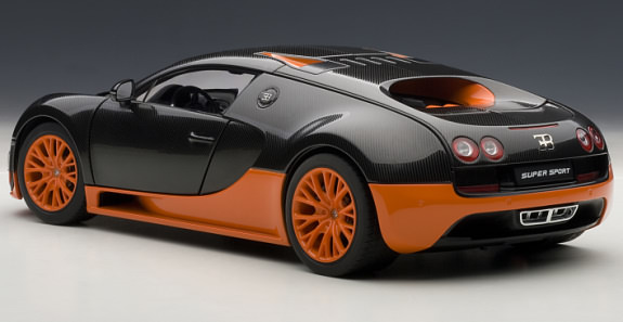 autoart 1 18 bugatti veyron super sport carbon black orange autoart 1 18 bugatti veyron. Black Bedroom Furniture Sets. Home Design Ideas