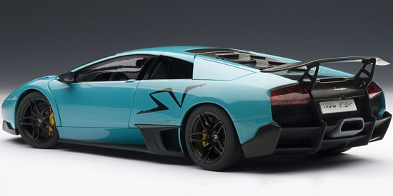 1 18 lamborghini murci lago lp670 4 sv turquoise blue 74615 can grand prix. Black Bedroom Furniture Sets. Home Design Ideas