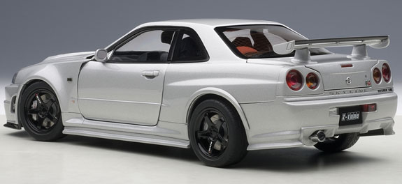 autoart 1 18 nissan skyline nismo r34 gt r z tune silver. Black Bedroom Furniture Sets. Home Design Ideas