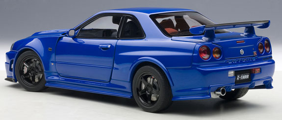 autoart 1 18 nissan skyline nismo r34 gt r z tune bayside blue 77354. Black Bedroom Furniture Sets. Home Design Ideas