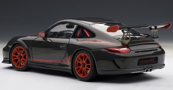 autoart 1 18 porsche 911 997 gt3 rs 3 8 grey black red autoart 1 18 porsche 911 997. Black Bedroom Furniture Sets. Home Design Ideas