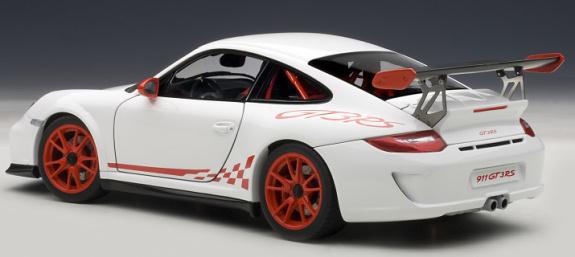 autoart 1 18 porsche 911 997 gt3 rs 3 8 blanche rouge autoart 1 18 porsche 911 997. Black Bedroom Furniture Sets. Home Design Ideas