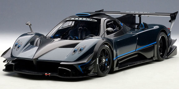 autoart signature 1 18 2013 pagani zonda revolucion blue black carbon 78273 ebay. Black Bedroom Furniture Sets. Home Design Ideas